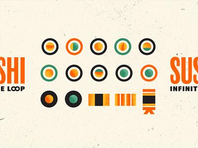Sushi Infinite Loop illustration sushi roll sushi logo sushi food japanese japan