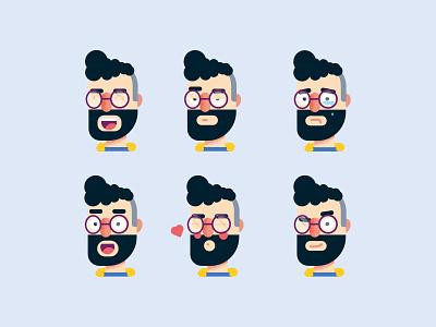 Matt Faces man expressions avatar facial expressions expression face faces character characters