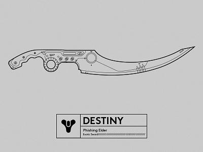 Famous Gun_DESTINY lineart illustrator destiny gun