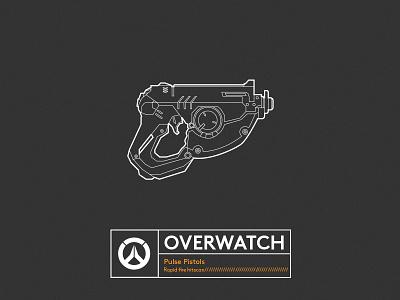 Famous Gun_OVERWATCH lineart illustrator overwatch gun