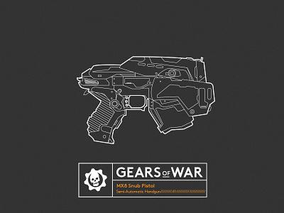 Famous Gun_GEARS OF WAR vector illustrator lineart gearsofwar gun