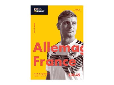 Allemagne - France france poster sport germany uefa soccer