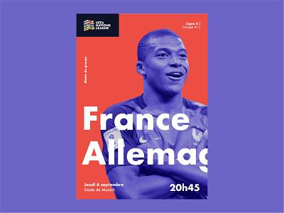 France - Allemagne uefa soccer poster germany france