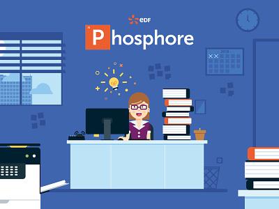 Phosphore illustration motion design
