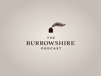 Burrowshire Podcast Logo podcast ink quill shire burrow logo branding