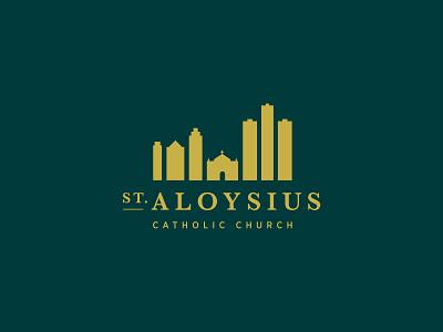 Branding for St. Aloysius michigan detroit serif green gold catholic church branding brand logo skyline aloysius saint parish