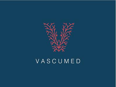Vascumed Logo medicine guatemala veins vascular clinic branding logo
