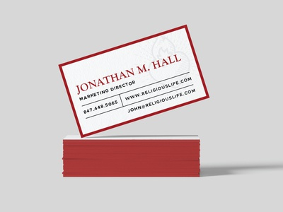 Institute On Religious Life business card