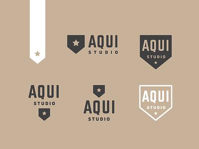 Branding for AQUI Studio photography house arrow logo branding guatemala aqui studio aqui