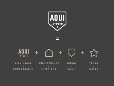 AQUI Studio logo concept