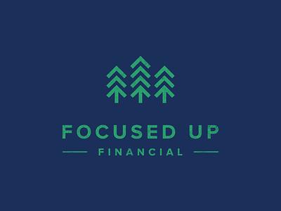 Branding: Focused Up il chicago green advisor finance financial focused arrow tree logo branding