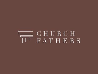 Logo: Church Fathers fathers church pillar column catholic christian christianity church fathers logo branding