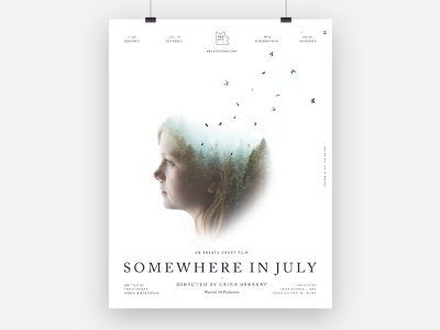 Movie Poster: Somewhere In July poster design girl woods catholic creative catholic 8beats double exposure butterflies poster movie poster