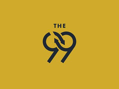 Branding for The 99 loop infinity catholic branding 99 logo