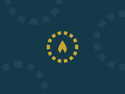 Revive icon catholic revive light flame icon logo