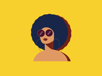 70's Retro Queen character design 70s icon 2d flat vector girl illustration