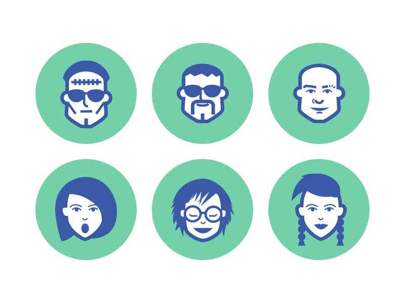 Free Jimi's Avatar Icons (.sketch) freebie free sample icon avatar vector sketch character face frankie user