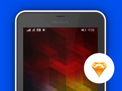 Microsoft Lumia 640 XL Mockup for Sketch mockup mobile windows phone sketchapp vector free sketch lumia microsoft freebie