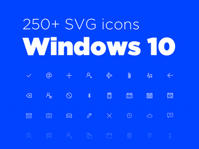 Windows Mobile 10.0 Icons Collection set vector svg collection icons icon mobile windows freebie