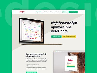 Vetfox Homepage Redesign app veterinary saas web homepage redesign vetfox