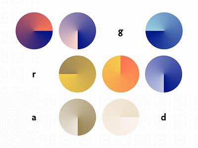 Gradient Pairs colors palette circle gradient