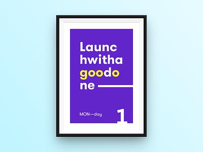 MON—day poster daysoftheweek typography poster monday