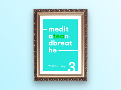 WEDNES—day poster daysoftheweek typography poster wednesday