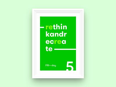 FRI—day poster daysoftheweek typography poster friday