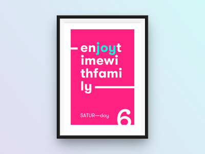 SATUR—day poster saturday poster typography daysoftheweek