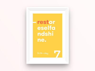 SUN—day poster daysoftheweek typography poster sunday