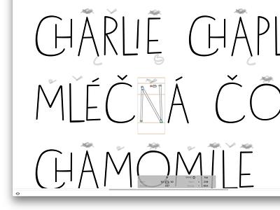 My First Font In Progress ligature glyphsapp letters type glyphs handwritten font