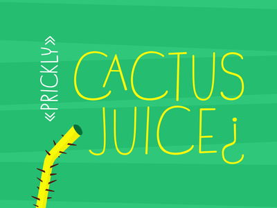 Prickly Cactus Juice¿ cubicoola typeface juice cactus font