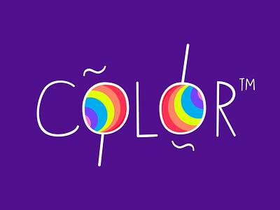 Cubicoola Font purple lollipop color display sans font cubicoola