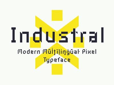 Industral Typeface font typeface pixel industral