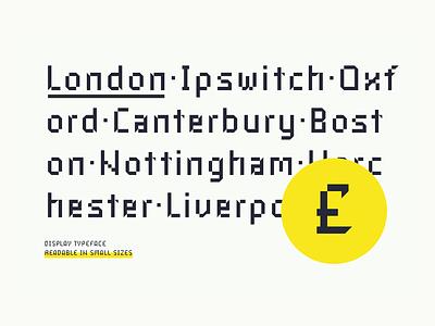 Industral Typeface Presentation pixel typeface industral font