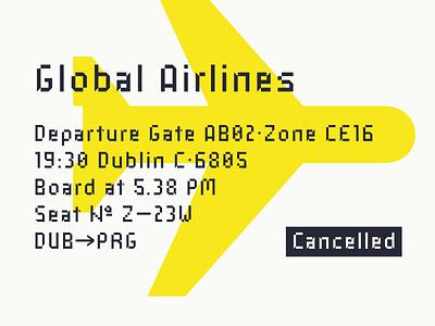 Industral Typeface Presentation plane airline typeface pixel industral font