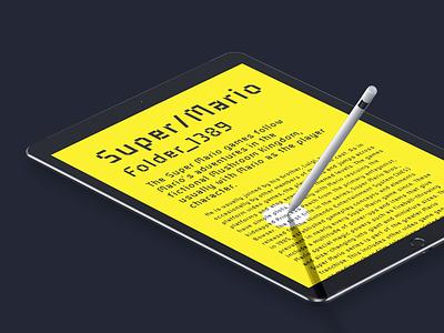 Industral Typeface Presentation mockup font industral pixel typeface ipad