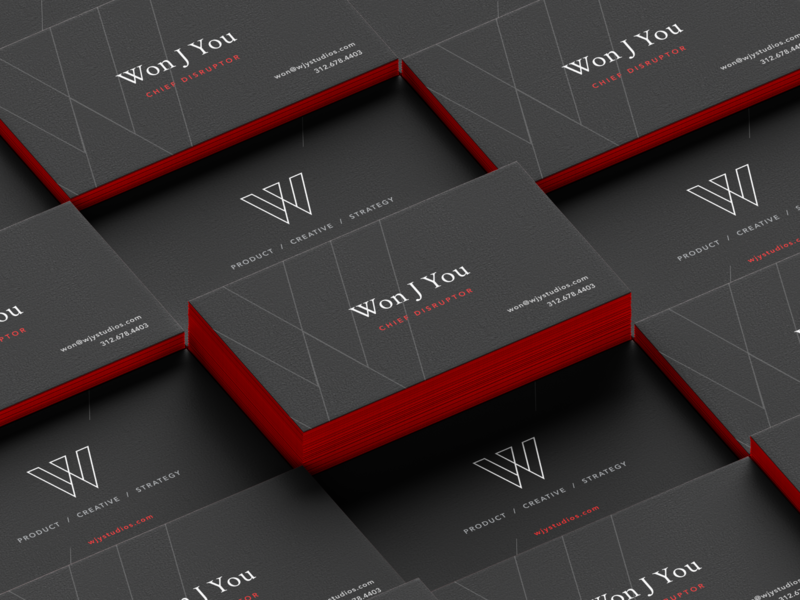 WJY Studios: Business Cards design wjystudios branding identity businesscardsdesign businesscards