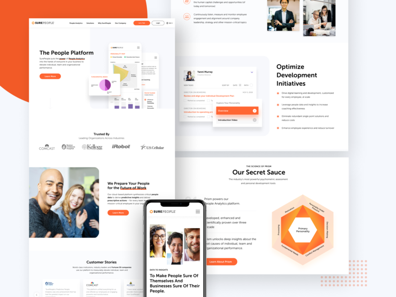 People Analytics Platform Marketing Website Redesign website design website uxui platform clientwork digitaldesign website redesign marketing site b2b webdesign