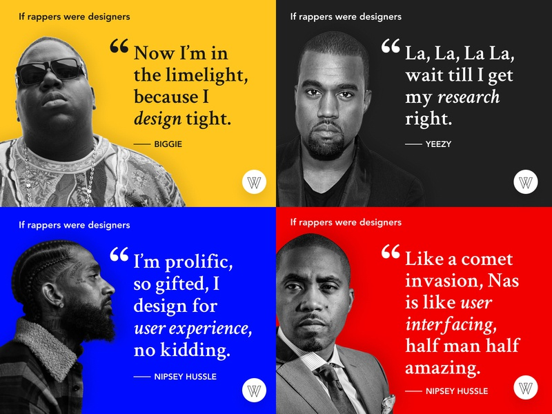 Hip-Hop UX Quotes quote design ux quotes rappers rapper hiphopux hiphop