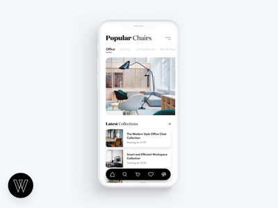 Mobile furniture shopping experience with hotspots
