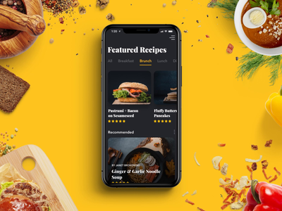 Recipe App Prototype Made in Principle uiux ui concept animation recipe app prototyping food app mobile food recipe prototype principle for mac