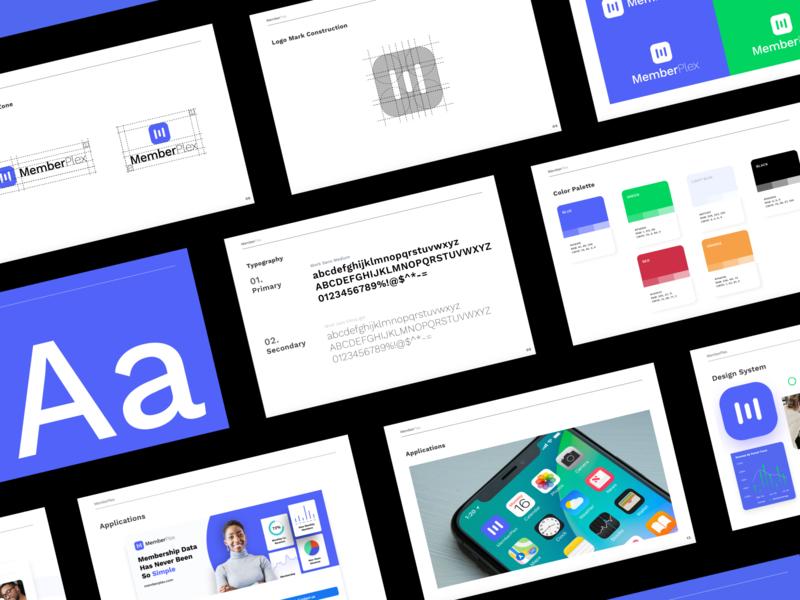 SaaS Branding Guidelines typography identity design branding and identity saas design design documentation branding guidelines style guide styleguide branding