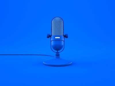 🎙 Fluix Podcasts Illustration speaker transition cover illustration art model readdle fluix cinema 4d blender 3d 3d animation podcasts mic microphone podcast octane blender render illustration design 3d