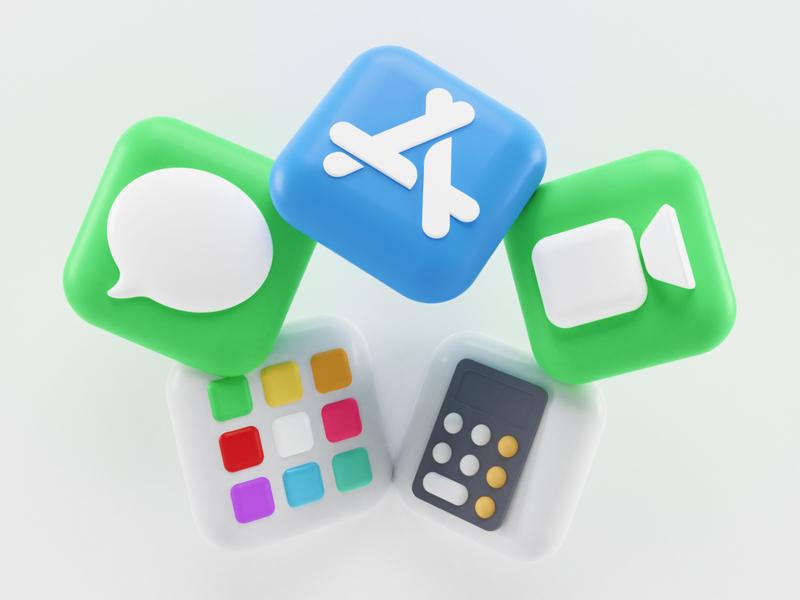 macOS Big Sur Icons – Apple illustrations calculator facetime messages appstore blender render 3d ios bigsur sur big icons icon 2020 wwdc macos mac apple illustration