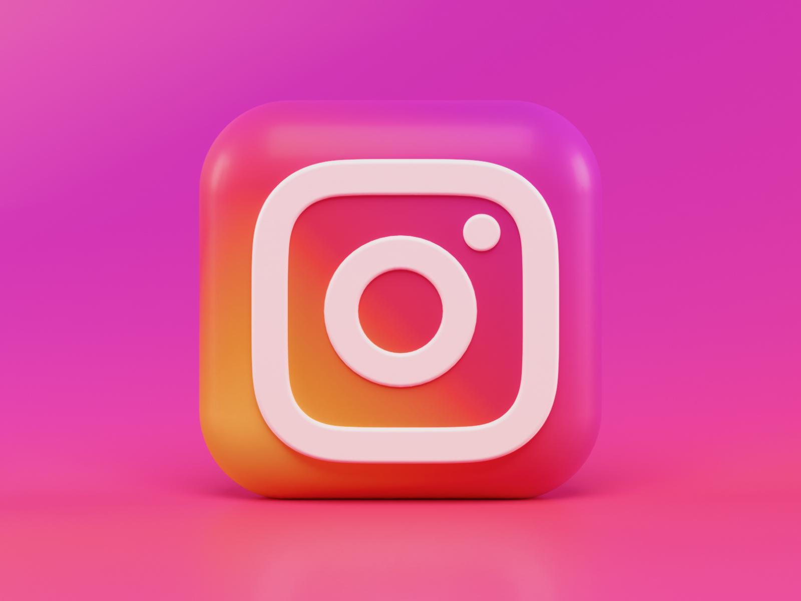 Instagram 3d Icon Concept