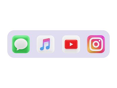 Instagram 3d Icon Concept concept ios 14 ios app app gradient blender 3d macos icon icon design icondesign iconography bigsur macos ios blender render illustraion icon 3d instagram