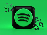 Spotify 3d Icon Concept design iconography blender 3d notes songs render macos icon macos ios14 ios streaming music icon design icon blender illustration bigsur app 3d spotify