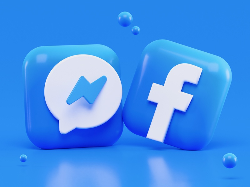 Messenger & Facebook Icons Concept social media social messages icon design iconography icons render blender messenger app messenger fb facebook logo blender 3d icon ios ui illustration 3d