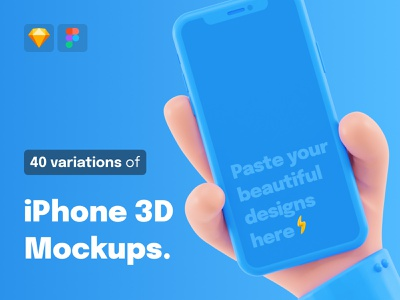 40 iPhone 3D Mockups ✌️ advertising landing page appstore product branding appstore presentation screen iphone app app branding iphone x mockup mockups iphone blender 3d ios ui design render illustration 3d